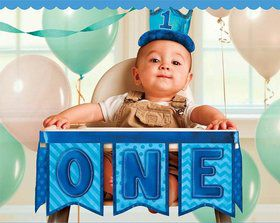 "1st Birthday Blue 37"" High Chair Decoration (Each)"