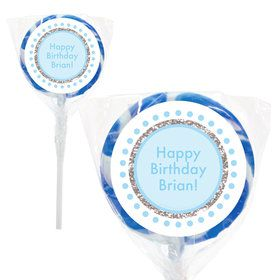 "1st Birthday Blue Personalized 2"" Lollipops (20 Pack)"
