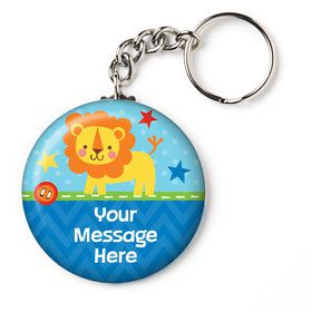 "1st Birthday Boy Animal Personalized 2.25"" Key Chain (Each)"