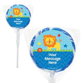 "1st Birthday Boy Animal Personalized 2"" Lollipops (20 Pack)"