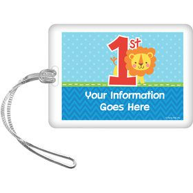 1st Birthday Boy Animal Personalized Bag Tag (Each)
