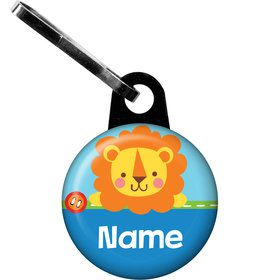 1st Birthday Boy Animal Personalized Zipper Pull (Each)