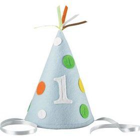 1st Birthday Boy Party Hat (each)