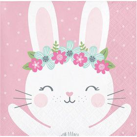 Birthday Bunny Beverage Napkin (16)