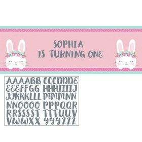 Birthday Bunny Giant Party Banner (1)