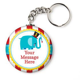 "1st Birthday Circus Personalized 2.25"" Key Chain (Each)"