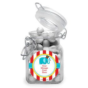 1st Birthday Circus Personalized Glass Apothecary Jars (10 Count)