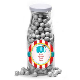 1st Birthday Circus Personalized Glass Milk Bottles (12 Count)
