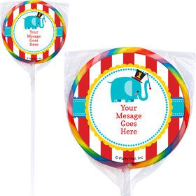 1st Birthday Circus Personalized Lollipops (12 Pack)