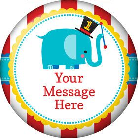 1st Birthday Circus Personalized Magnet (Each)