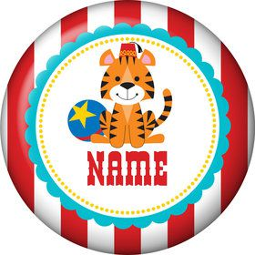 1st Birthday Circus Personalized Mini Button (Each)