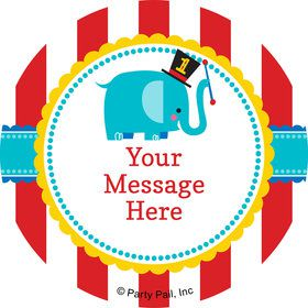 1st Birthday Circus Personalized Mini Stickers (Sheet of 20)