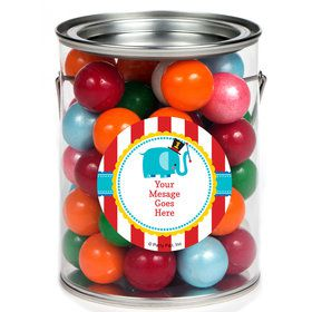 1st Birthday Circus Personalized Paint Cans (6 Pack)