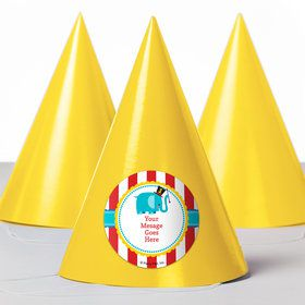 1st Birthday Circus Personalized Party Hats (8 Count)