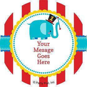 1st Birthday Circus Personalized Stickers (Sheet of 12)