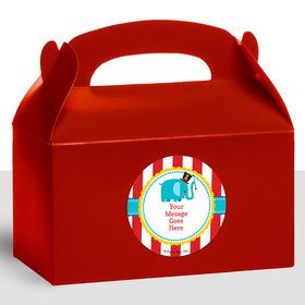 1st Birthday Circus Personalized Treat Favor Boxes (12 Count)