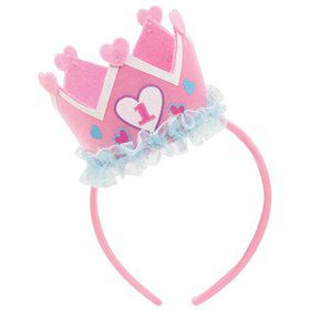 1St Birthday Crown Felt Headband (Each)