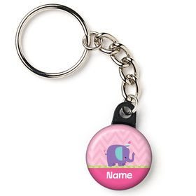 "1st Birthday Girl Animal Personalized 1"" Mini Key Chain (Each)"