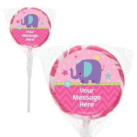 "1st Birthday Girl Animal Personalized 2"" Lollipops (20 Pack)"