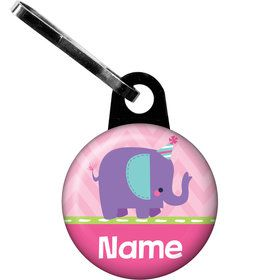 1st Birthday Girl Animal Personalized Zipper Pull (Each)