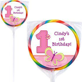 1st Birthday Girl Personalized Lollipop (PACK OF 12)