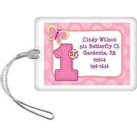 1st Birthday Girl Personalized Luggage Tag (each)