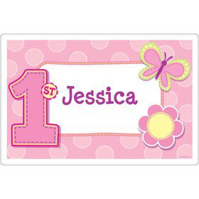 1st Birthday Girl Personalized Placemat (each)