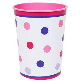 1st Birthday Girl Sweet Stripes 12oz. Plastic Cup