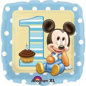 1st Birthday Mickey Mouse Balloon (each)