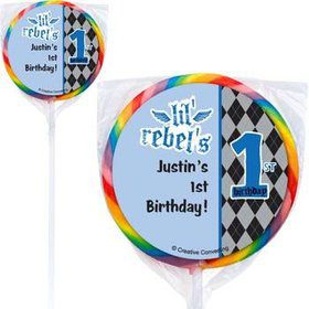 1st Birthday Rebel Personalized Lollipops (pack of 12)