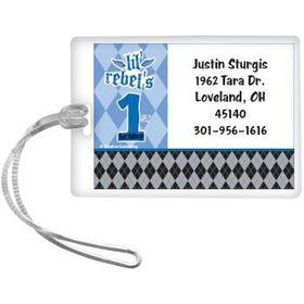 1st Birthday Rebel Personalized Luggage Tag (each)
