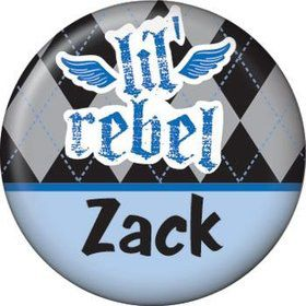 1st Birthday Rebel Personalized Mini Magnet (each)