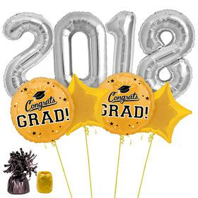 2018 Grad Yellow Balloon Kit
