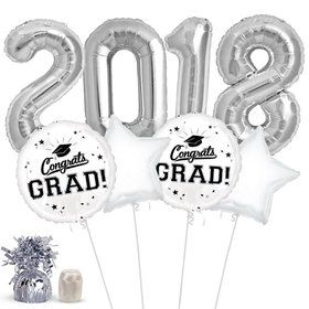 2018 Grad White Balloon Kit