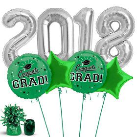 2018 Graduation Green Balloon Kit
