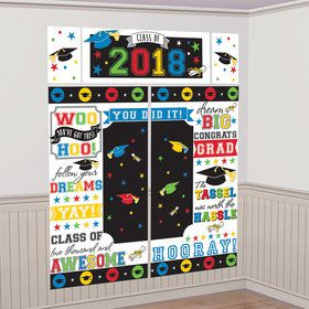 2018 Graduation Colorful Wall Decoration Scene Setter Kit