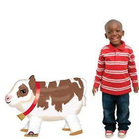 "25"" Cute Cow Buddy Airwalker Balloon (each)"