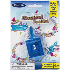 "3"" Musical Light Up Dreidel"
