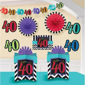 40th Birthday Chevron Mix Decorating Kit (Each)