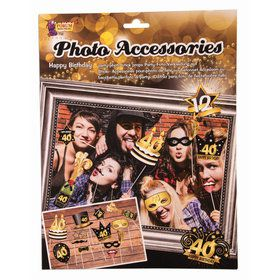 40th Birthday Photo Booth Accessories