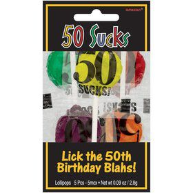 50 Sucks Lollipops (5 PACK)