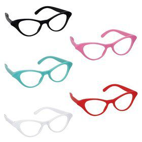 50's Cat Style Assorted Glasses (10 Pack)