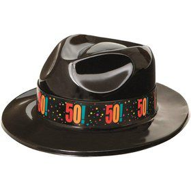 50th Birthday Gangster Hat (Each)