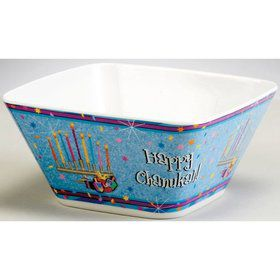 "6"" Chanukah Sparkle Melamine Bowl"