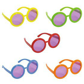 60's Hippie Assorted Glasses (10 Pack)
