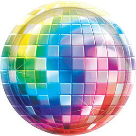 """70's Disco Fever 10.5"""" Luncheon Plates (8 Pack)"""