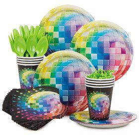 70's Disco Fever Birthday Party Standard Tableware Kit Serves 8