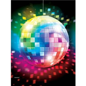 70's Disco Fever Plastic Table Cover (Each)