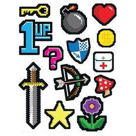 8-Bit Peel 'N Place Wall Clings (13 Pack)
