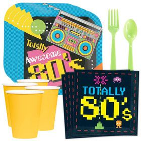 80's Party Standard Tableware Kit (Serves 8)